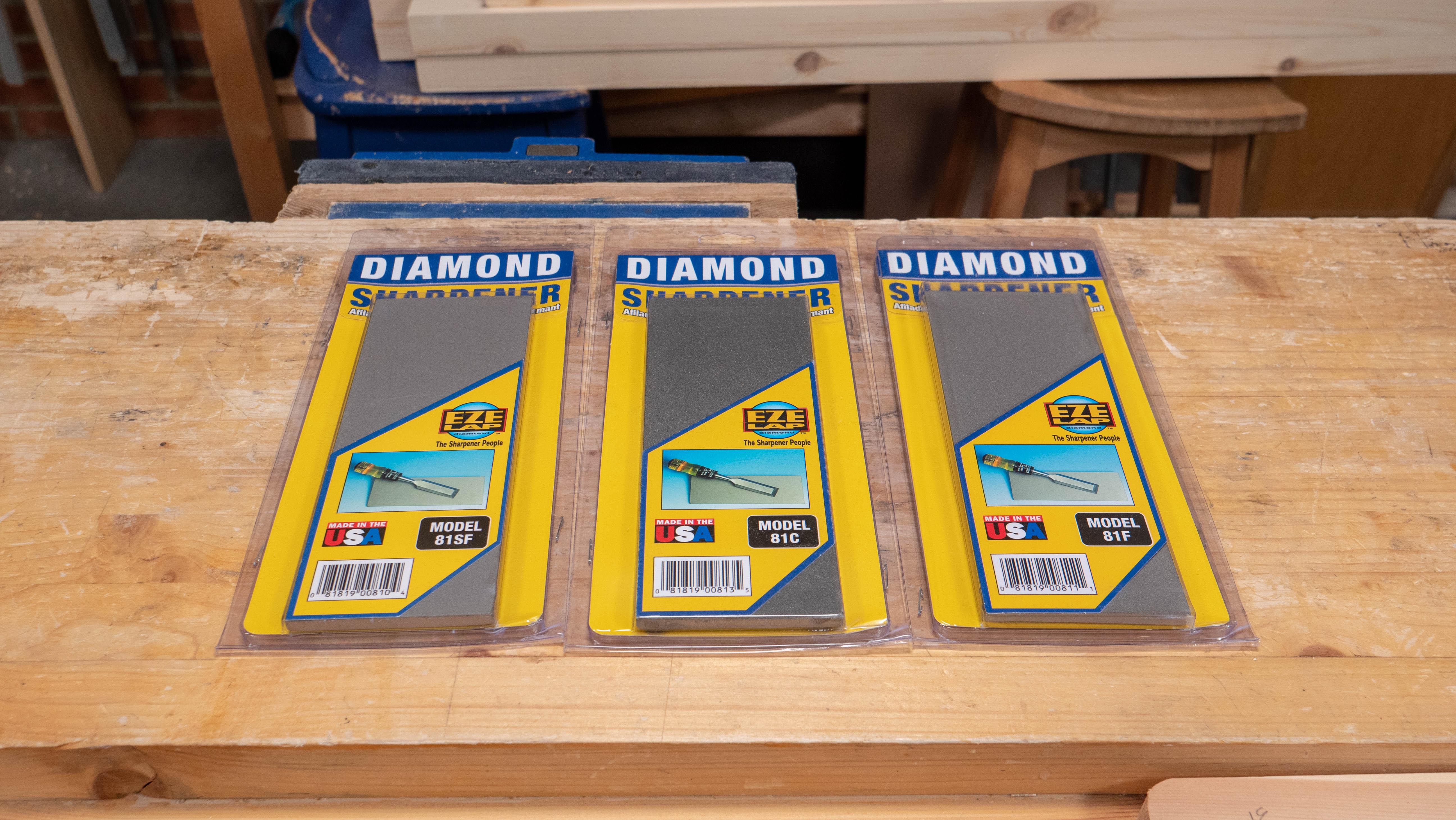 """EZE-LAP DIAMOND SHARPENER DOUBLE SIDED EZELAP FINE//COARSE 3/"""" X 8"""