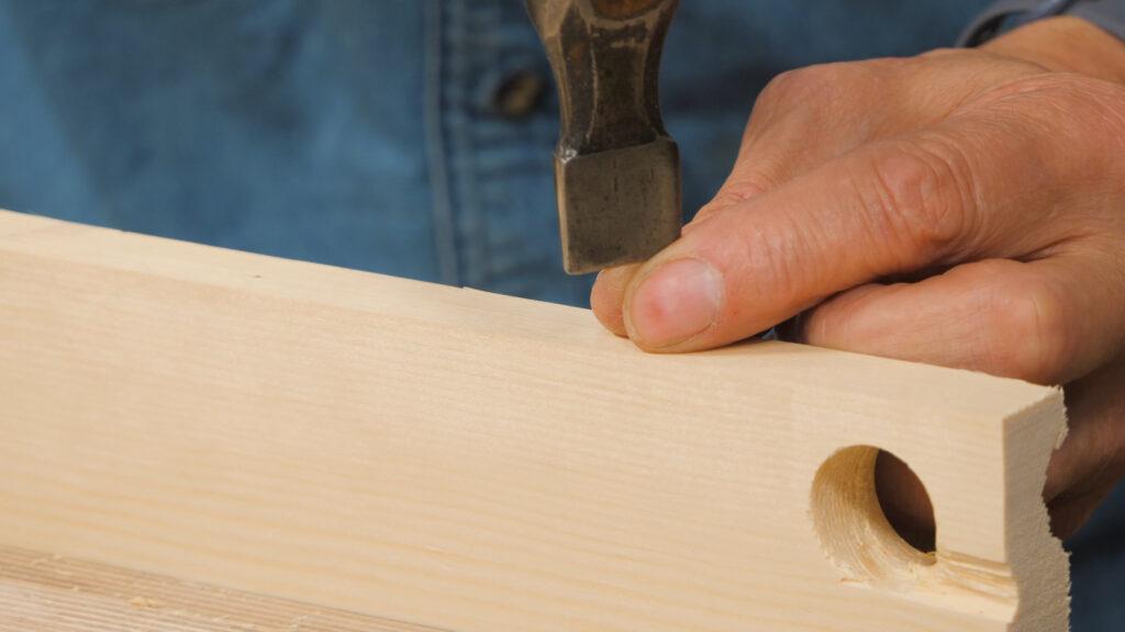 8. Using a warrington hammer to start off a pin [5.55]