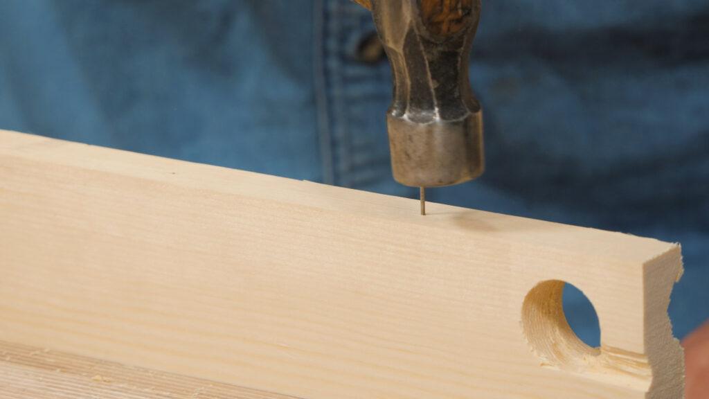 8. Using a warrington hammer to start off a pin [5.57]
